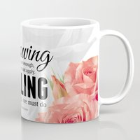 motivation Mugs featuring Knowing motivation quote by Juliana RW