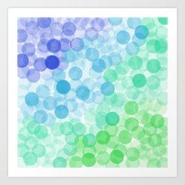 Bubbled Art Print