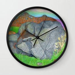 Cracked Boulder Wall Clock