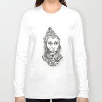 hindu Long Sleeve T-shirts featuring Hindu Deity (Hanuman) by The Artful Yogini