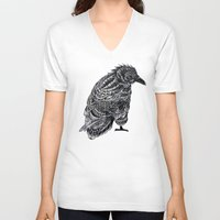 raven V-neck T-shirts featuring Raven by BIOWORKZ