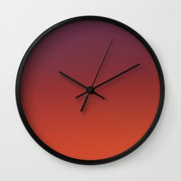 ODYSSEY - Minimal Plain Soft Mood Color Blend Prints Wall Clock