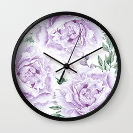 Pretty Purple Flower Garden Wall Clock