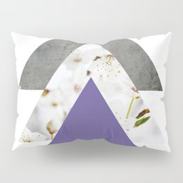 Ultra Violet Blossoms Arrows Pillow Sham