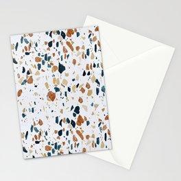 White Seamless Terrazzo  Stationery Cards