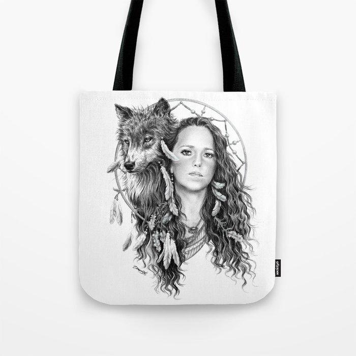 Heather / Black & white Tote Bag