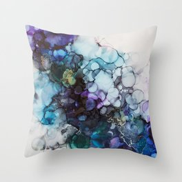 Dusk Alcohol Ink Painting Throw Pillow