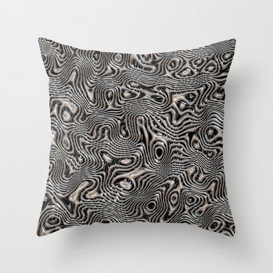 Chrome Chaos Throw Pillow