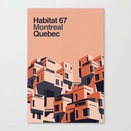 Habitat 67 retro poster Canvas Print