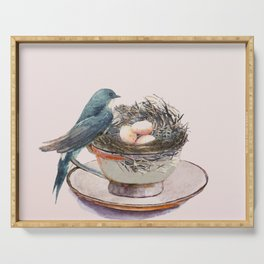 Bird nest in a teacup Serving Tray