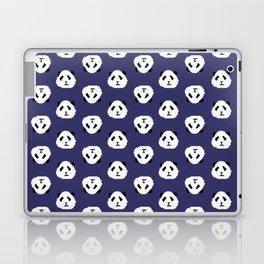 Blue Pixel Panda Pattern Laptop & iPad Skin