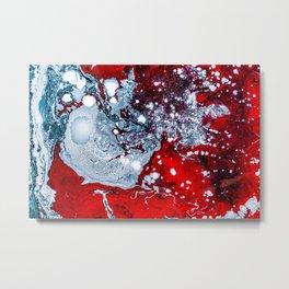 Red & Blue Metal Print