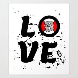 Love Tennis with a tennisball logo | BTNNS Art Print