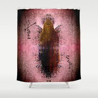 vagina Shower Curtains featuring The Artefact by Khana's Web