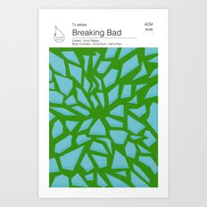 Breaking Bad TV books Art Print