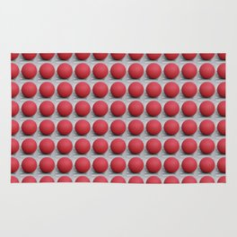 Round and Red 2 Rug