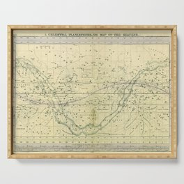 A Celestial Planisphere or Map of The Heavens Serving Tray