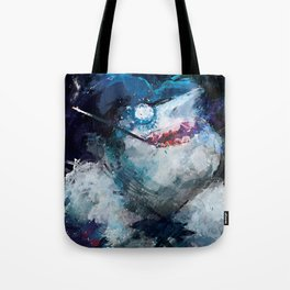 Penguin painting Tote Bag
