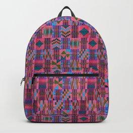 Kente Cloth // Summer Sky & Venetian Red Backpack