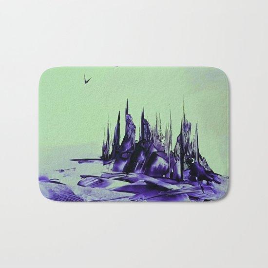 Purple alienscape Bath Mat