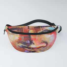 Closer - portrait of a beautiful woman Fanny Pack