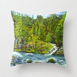South Umpqua River, Oregon Throw Pillow