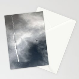 Plane Trails Stationery Cards