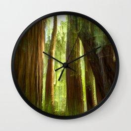 Redwood Abstract Wall Clock
