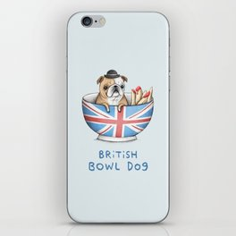 British Bowl Dog iPhone Skin