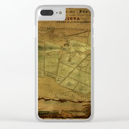 Map Of Antigua 1821 Clear iPhone Case