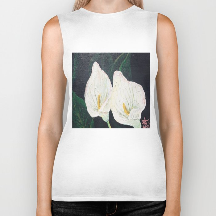 Calla Lily ... Winter Lilly Lily Lilies Lillies White Biker Tank