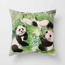bamboo orchestra Throw Pillow