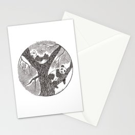 Panda bears Stationery Cards