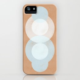 Waterdrops meeting in a simple almost cubist minimal art iPhone Case
