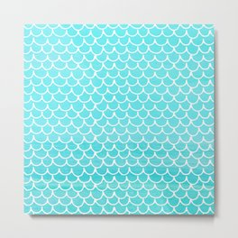 Let´s be mermaids- Aqua Mermaidscales - into the Sea Metal Print