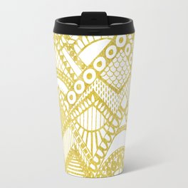 Golden Doodle mountains Travel Mug