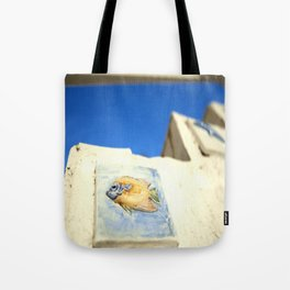 St Tropez Fish Steps Tote Bag