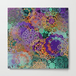 CHEERFUL FLORAL PATTERN I Metal Print