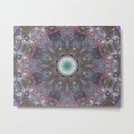 fluorite mandala Metal Print