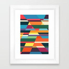 The hills run to infinity Framed Art Print