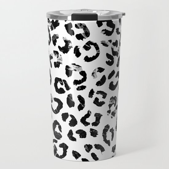 Modern black white marble stylish leopard pattern by girlytrend