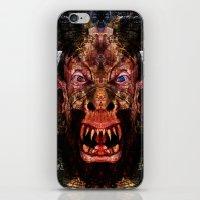 animal crew iPhone & iPod Skins featuring Animal by Zandonai