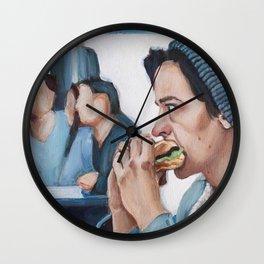 Jughead Jones Eats a Burger - Riverdale Wall Clock