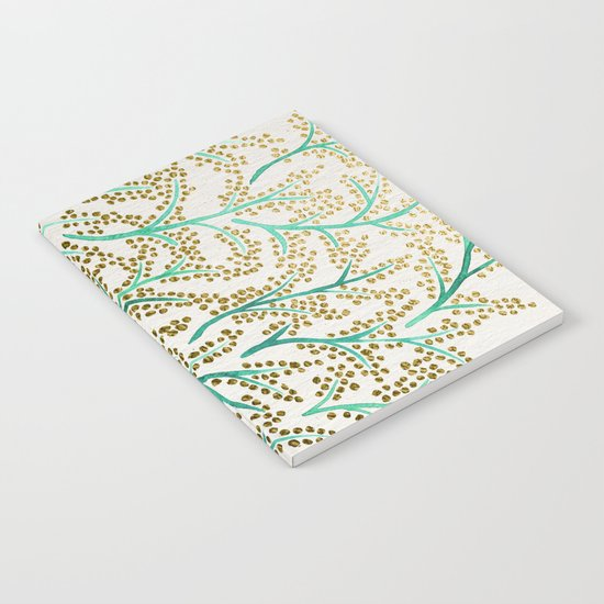 Green & Gold Branches Notebook