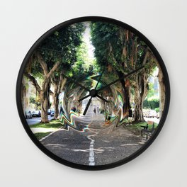 glllitched_september Wall Clock