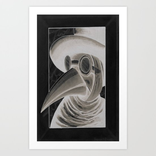 the doctor inverted Art Print