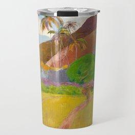 Tahitian Landscape by Paul Gauguin Travel Mug