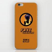 bebop iPhone & iPod Skins featuring Bebop Faye by AngoldArts