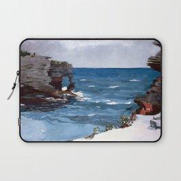 Rocky Shore, Bermuda Laptop Sleeve