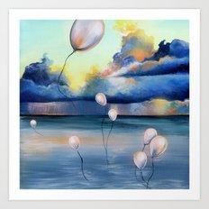 Balloons Over Water Art Print